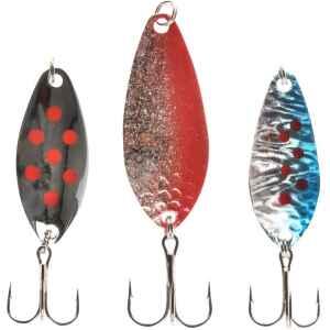 Kommer med tre olika heta färger och storlekar för abborre och ädelfisk.