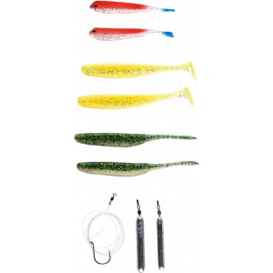 Ready-to-fish Dropshot är färdigknutet och redo att användas –innehåller jiggar