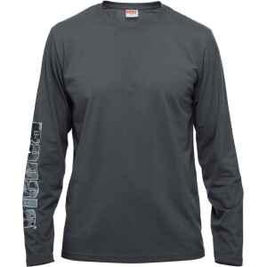 Långärmad t-shirt med snyggt Rapala-tryck i Splash-mönster på höger ärm och ryggslut.