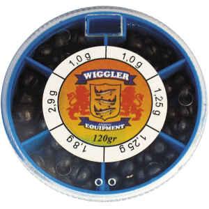 Wiggler split shot hagel i bly.