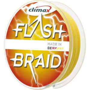 Flash Braid-flätlinan är tillverkad i Tyskland av ny 100% HMPE-fiber enligt högsta kvalitetsstandard.